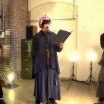 朗読の魅力を伝える番組「速水奨&野津山幸宏の今日、何読む?」へ、佐藤拓也がゲスト出演。3人の即興劇が、とんでもなく長大な物語に…。